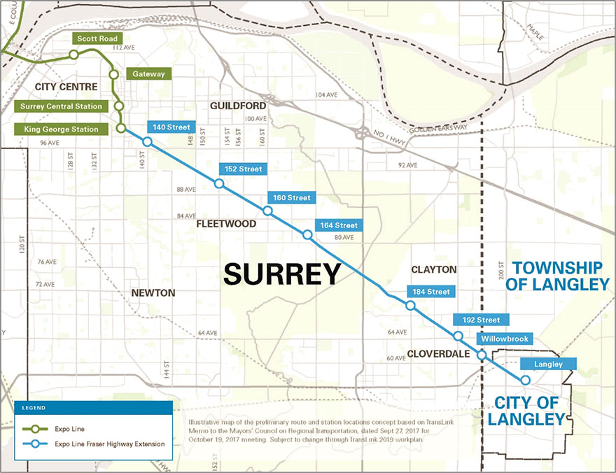 Surrey Langley Skytrain Sls Project And The Upcoming