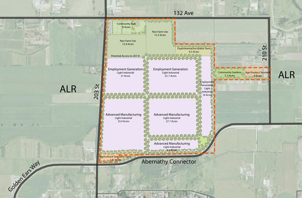 Agricultural Land Projects: Wext Maple Ridge Lands - Pacific Land Group Land Use Planning.