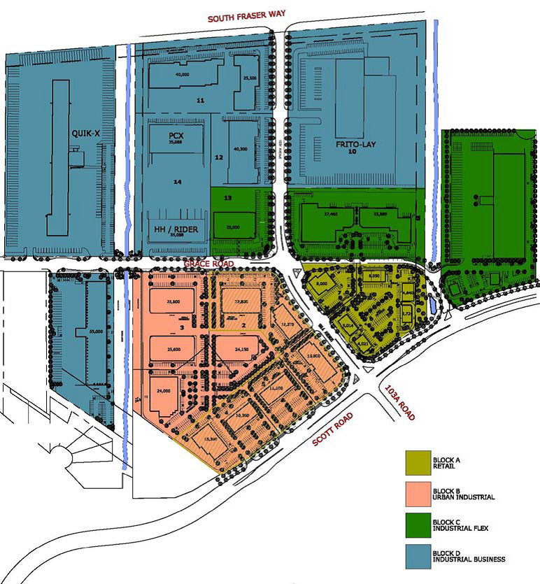 PacificLink Business Park / South Westminster, Surrey, BC - PLG Commercial & Industrial Land Develpment.